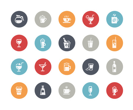 aperitif: Drinks Icons  Classics Series Illustration