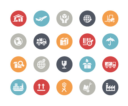 Industry and Logistics Icons  Classics Series Vector