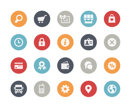 Online Store Icons  Classics Series Vector