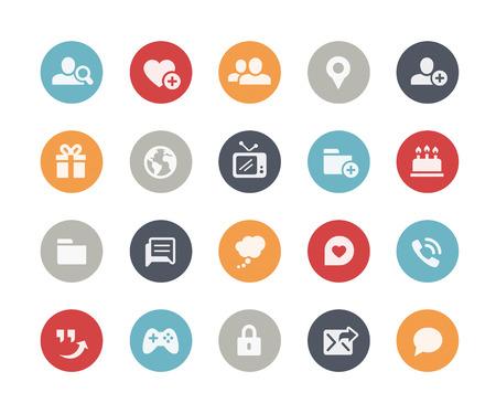 communicatie: Sociale Communicatie Icons Classics Series