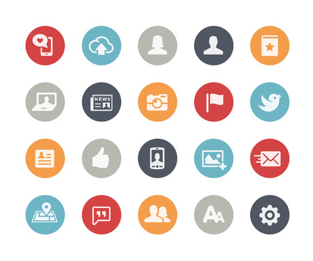 Social Web Icons  Classics Series Illustration