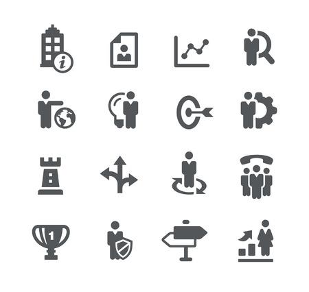 headquarter: Company Goals  Business Strategies Illustration