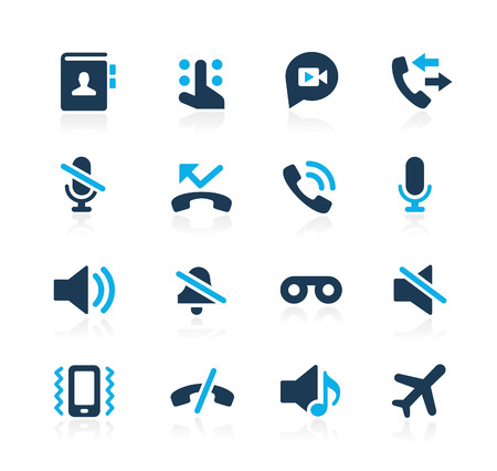 Phone Calls Interface Icons  Azure Series