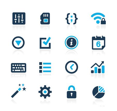 System Settings Interface  Azure Series Illustration