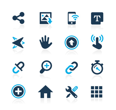System Icons Interface  Azure Series Vettoriali