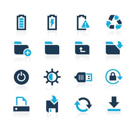 Energy and Storage Icons  Azure Series Illustration
