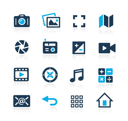 Media Interface Icons  Azure Series Vettoriali