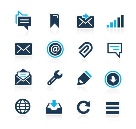 azure: Messages Icons  Azure Series