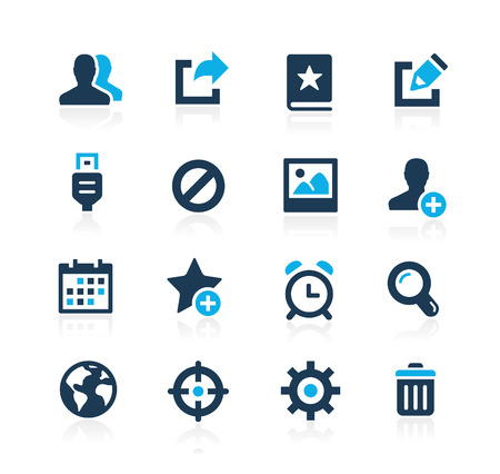 Communication Interface Icons  Azure Series  イラスト・ベクター素材