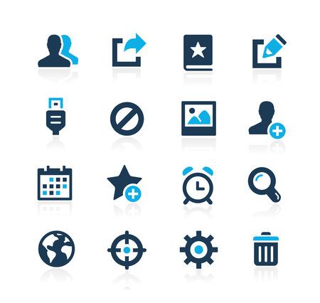 Communication Interface Icons  Azure Series Illustration