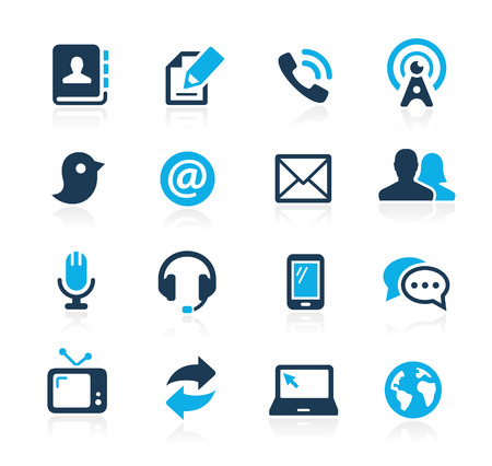 Communications Icons  Azure Series