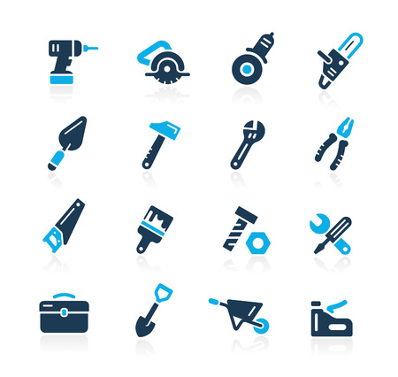 Tools Icons  Azure Series Фото со стока - 41849459