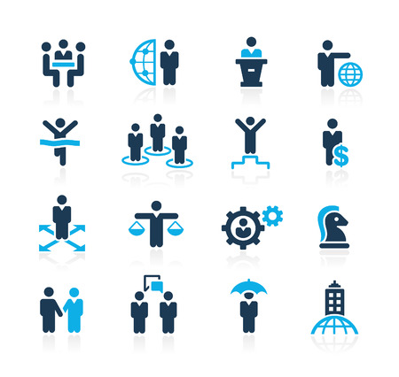 Hoblování Úspěch a Business Strategies Azure Series Ilustrace