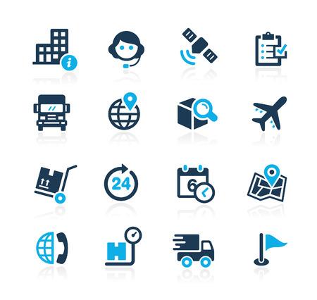 empresas: Envío y Seguimiento de Azure Series Vectores