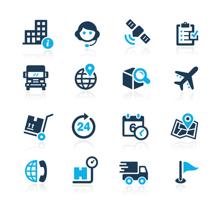 Shipping and Tracking  Azure Series Illustration