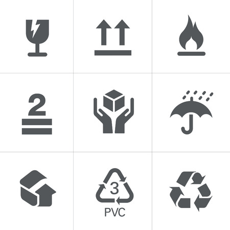 fragile industry: Packaging Symbols