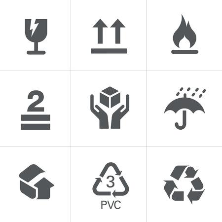 symbol hand: Verpackung Symbole