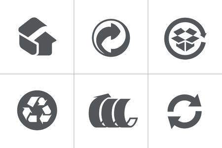 logo recyclage: Symboles recyclés