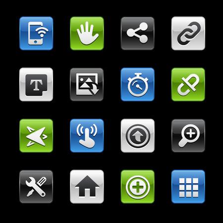 glossy buttons: Interfaccia Sistema Tasti Lucidi - Gelbox Series