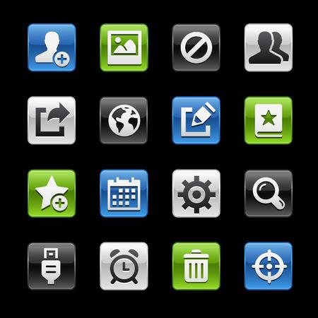 glossy buttons: Interfaccia Comunicazione Tasti Lucidi - Gelbox Series