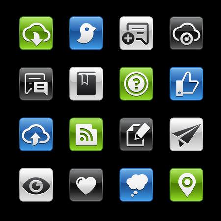 communicatie: Social sharing en Communicatie Glanzende Knopen - Gelbox Series