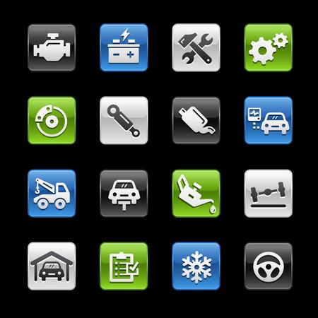 glossy buttons: Car Service Tasti Lucidi - Gelbox Series