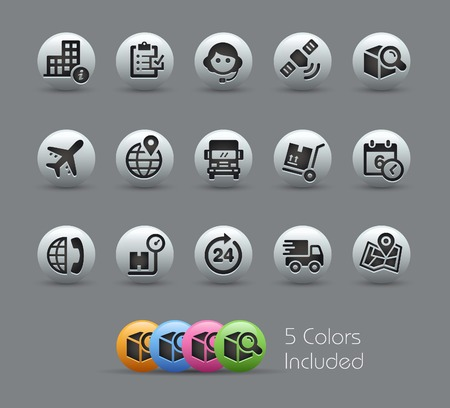 Shipping and Tracking Icons -- Pearly Series