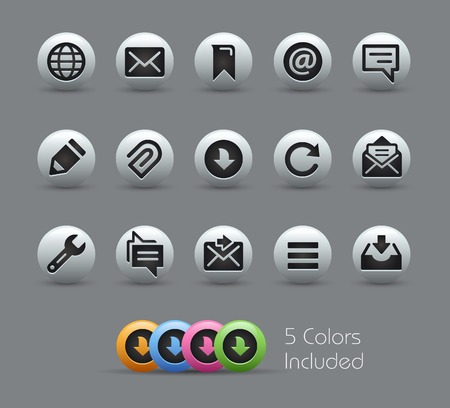 nacr�: Messages Icons -- Pearly Series