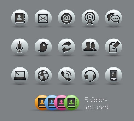 communications: Communications Icons  -- Pearly Series Illustration