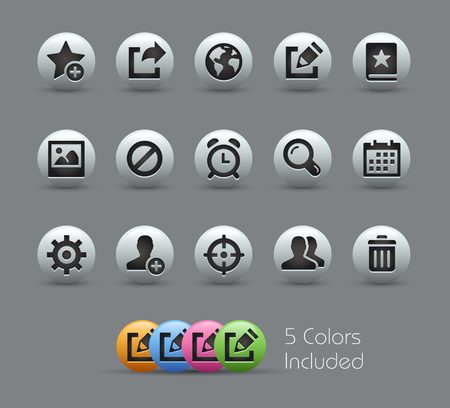 Communication Interface Icons -- Pearly Series