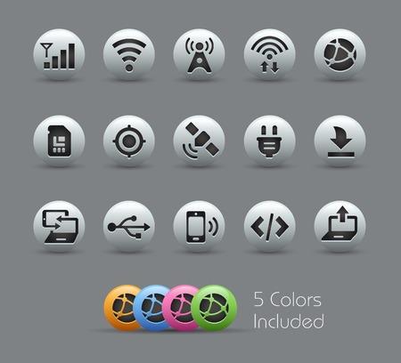 conectividad: Iconos Conectividad - Serie Pearly Vectores