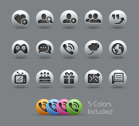 nacr�: Social Communications Icons -- Pearly Series
