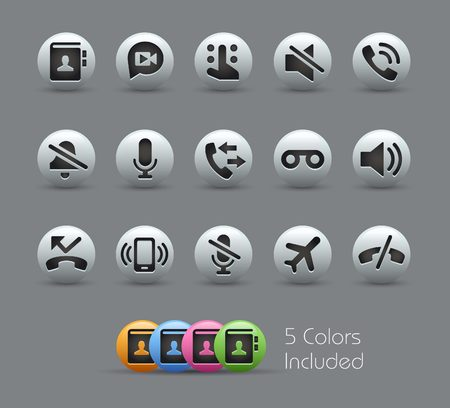 pearly: Phone Calls Interface Icons -- Pearly Series