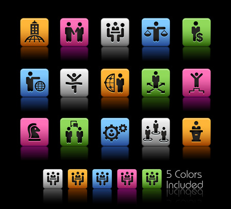 planing: Business Planing and Success Strategies -- ColorBox Series -- The Vector file includes 5 color versions for each icon in different layers -- Illustration