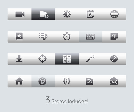 schedule system: Web and Mobile buttons states in different layers.