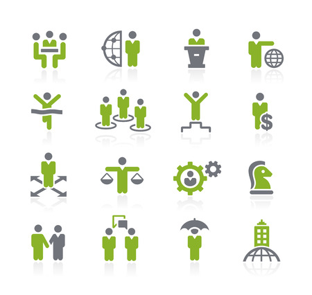 Business Success Icons -- Natura Series Ilustrace