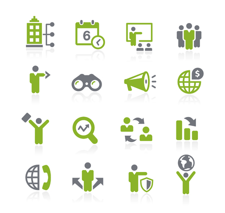 Business Opportunities Icons - Natura Series Stock Illustratie
