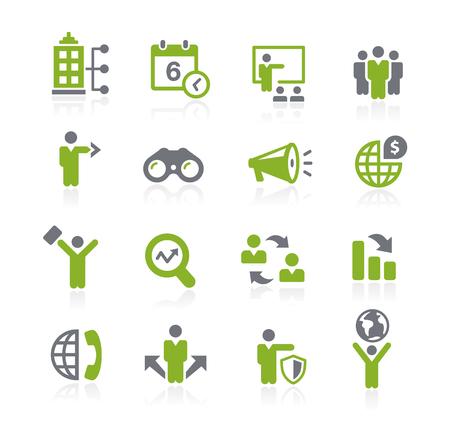 Negocios Oportunidades Iconos - Serie Natura Vectores