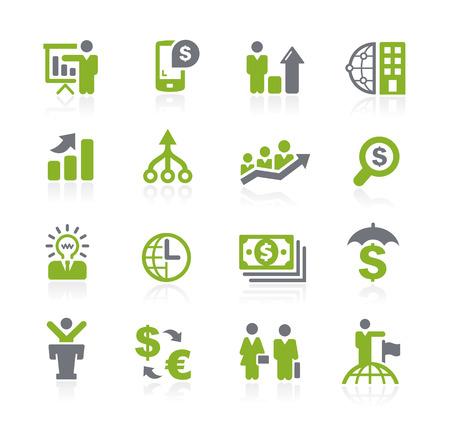 iconos: Negocios y finanzas iconos - Serie Natura Vectores