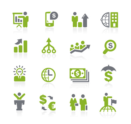 Business and Finance Icons -- Natura Series Stock Illustratie