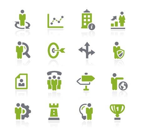 Business Strategies Icons -- Natura Series