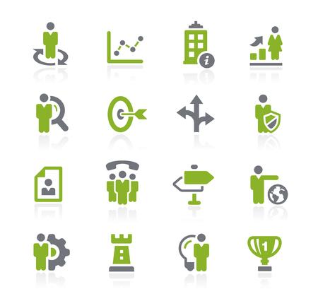 headquarter: Business Strategies Icons -- Natura Series