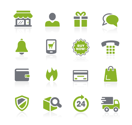 notify: e-Shopping Icons -- Natura Series Illustration