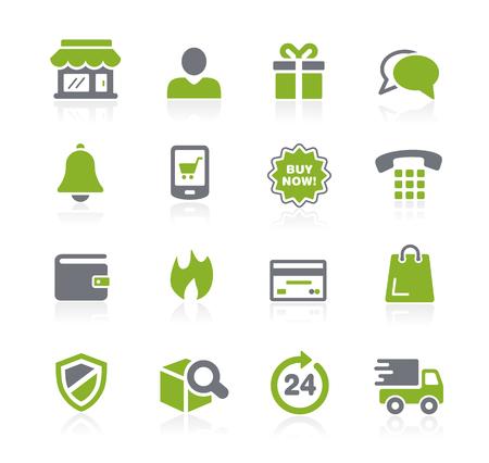 e-Shopping Icons -- Natura Series Illustration