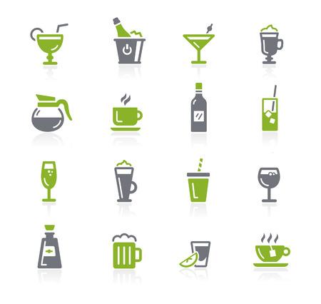 natura: Drinks Icons -- Natura Series Illustration