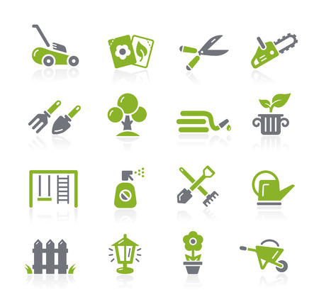 Gardening Icons -- Natura Series Stock Illustratie