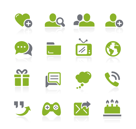 Social Communications Icons -- Natura Series