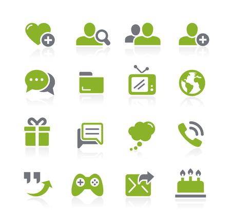Social Communications Icons -- Natura Series