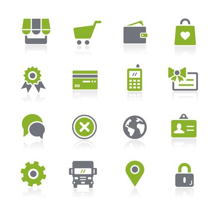 Online Store Icons -- Natura Series Ilustração