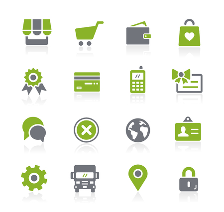 Online Store Icons -- Natura Series Illustration